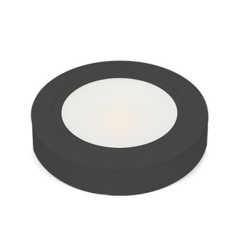 12V Black LED Puck Light 3000K