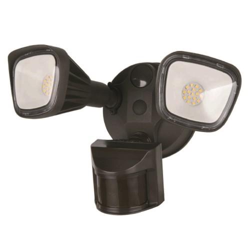 2 Head Bronze Dimming Security Light 3CCT
