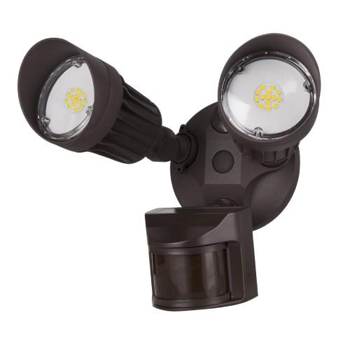 2 Head Bronze Security Light 5000K